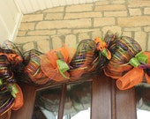 Halloween Garland, Mantle Door Decoration, Centerpiece Mesh 8'