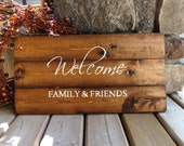 Welcome Distressed Wood Sign - Rustic, Country Chic, Farmhouse, Shabby, Wood Plank