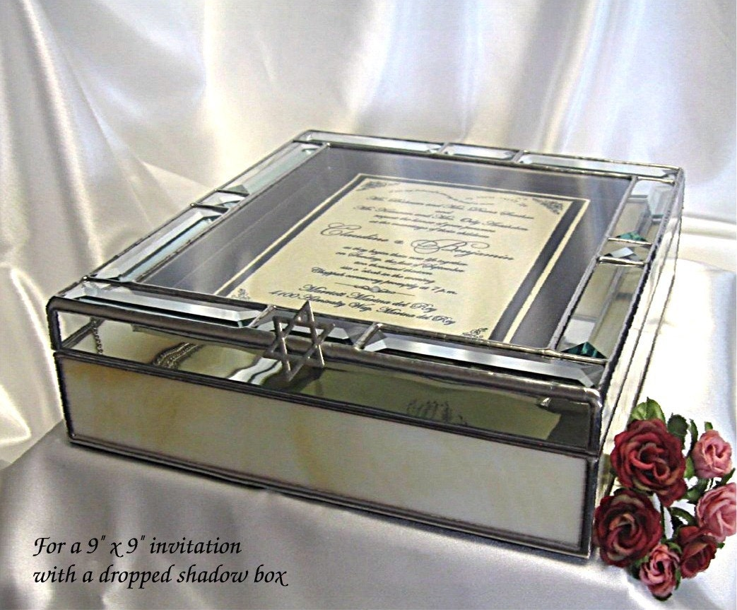Gift Box Wedding Invitations: Wedding Invitation 9x9 Keepsake Gift Box With A