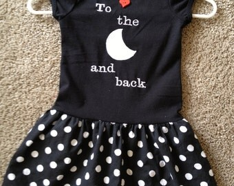 To the Moon and Back Toddler Dress
