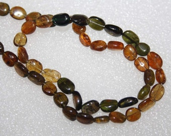 Natural AAA Quality Petro Tourmaline 5X7 to 5X8mm Smooth Oval Gemstone Beads 13 Inches BA139
