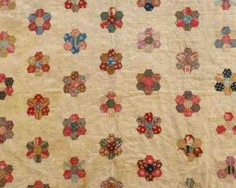 1950s child's patchwork quilt