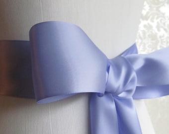 Iris Satin Ribbon Sash / Ribbon Sash / Satin Bridal Sash /  Bridesmaid Sash / Iris