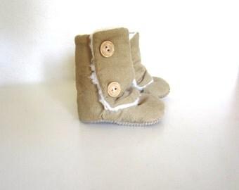 Tan Corduroy Baby Winter Boots