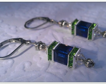 Inspired By The Seattle Seahawks Earrings