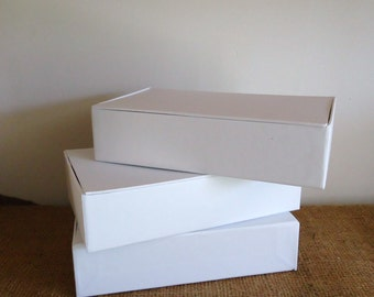 Cigar box 3 craft boxes, plain pencil box, blank white box, storage box, multi media art supply. altered art supply