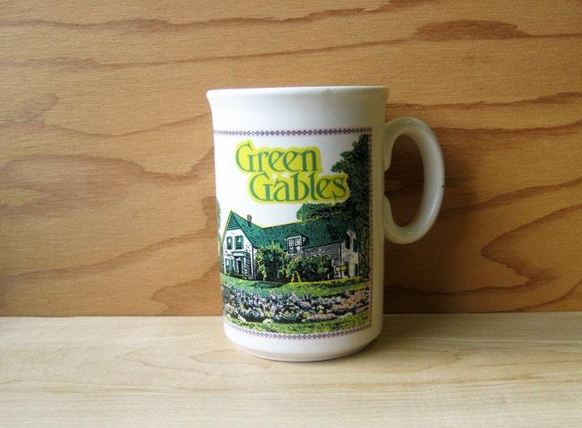 Vintage Ceramic Green Gables Mug Anne Of Green Gables Coffee