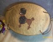 1950's Poodle Basket Purse Carrier or Sewing Basket original