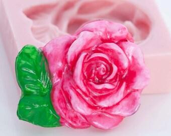 Victorian Rose Silicone Mold - Rose Pendant Mold - Rose Embellishment mold - Polymer Mold - Metal Clay Mold - Flexible Mold (503)
