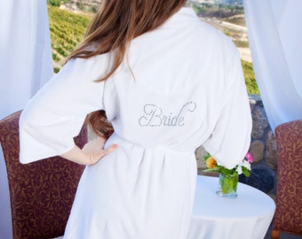 Personalized Bride Robe, Bridal Shower Gift, Bridal robe Bridesmaid gifts wedding robe Engagement gift for your Fiance