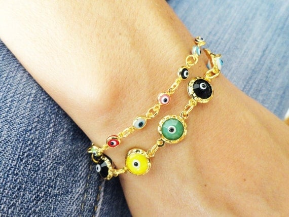 Mother daughter jewelry, matching evil eye bracelet sets multicolor assorted colorful evil eye bracelets mother jewelry friendship bracelet
