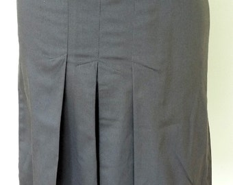 Vintage Grey Pleated Skirt Mod
