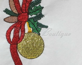 mylar Bow with decoration applique embroidery