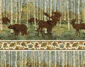 Stonehenge Wilderness Blue Spruce by Linda Ludovico for Northcott Fabrics