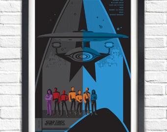 Star Trek The Next Generation Series - All TNG crew  - 19x13 Poster