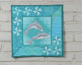 Dolphins Wall Quilt Kit