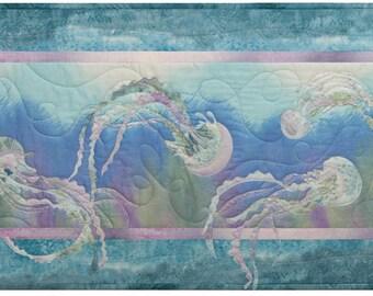 McKenna Ryan Quilt Pattern Beach Walk Water Ballet block 8 Jellyfish Ocean Quilting