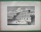 ITALY Florence Palazo Palace Pitti - 1870s Antique Print