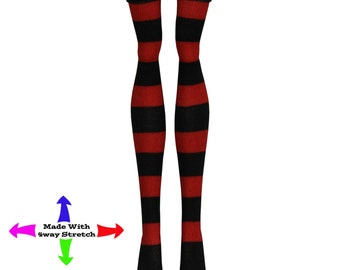 Monster High Doll Stockings - Red & Black Stripe - Doll clothes - All Sizes