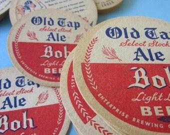 12 Assorted Vintage Beer Coasters