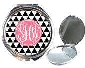 Personalised Compact Mirror - Pocket Mirror - Triangle P03