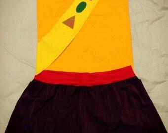 camping girl running costume