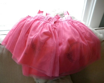 Hand Embroidered Infant/Toddler Dress with Tulle overlay-PINK ONLY