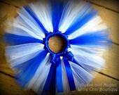 Royal Blue and White Tutu
