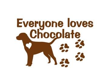 Chocolate Labrador Retriever Dog Vinyl Decal Wall Sticker