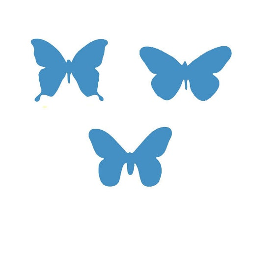 Items Similar To Butterfly Stencils Set Of 3 Butterfly