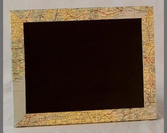 Mapgeek - Vintage Map Mini Chalkboard