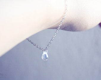 droplet - dainty silver chain bracelet, simple, everyday minimalist jewelry / gift for  her