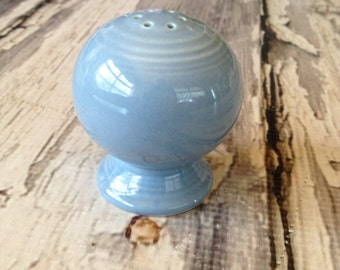 Fiestaware pepper shaker in retired periwinkle blue