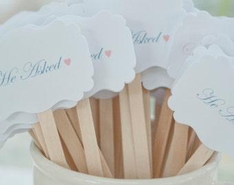 Wedding Drink Stirrers-Engagement Party - Stir Sticks- Coffee Stirrers-Drink Stirrers-Signature Drinks-Set of 25
