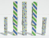 Memo Clip Decorative Clothespins/Japanese Washi Tape