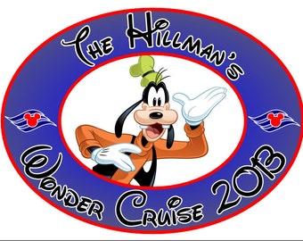 Custom Personalized Goofy Oval Disney Cruise Line Stateroom Door Magnet