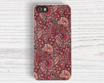 Red Paisley Fabric Print IPHONE 5s CASE, iPhone 6S case iPhone 6S Plus iPhone 5S cover iPhone 5C cases iPhone 4 cases