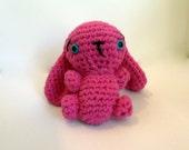 SPECIAL LISTING  Amigurumi Bunny Rabbit  - plushie bunny - Pink Bunny - Crochet Bunny rabbit