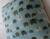 Elephants Aqua Blue Boy Girl Nursery Cushion Pillow Extra Small