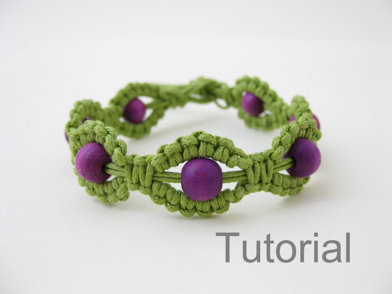 Macrame bracelet instructions pattern pdf tutorial jewelry