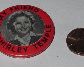 vintage shirley temple button