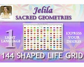 144 Sacred Shape Geometry Advanced Light Language Grid  for Transformation Healing and Growth - Lifetime Grid on Topic of Your Choice
