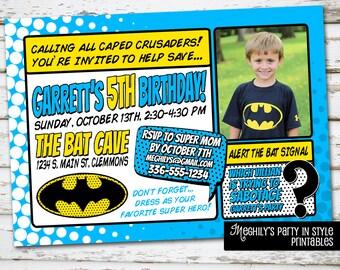 Batman Invite with Photo