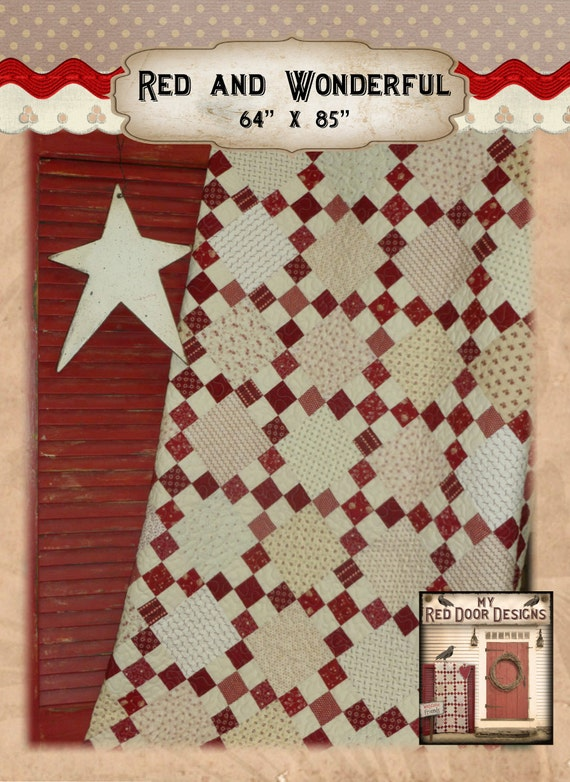 Red and wonderful pdf quilt pattern for Red door design quilts