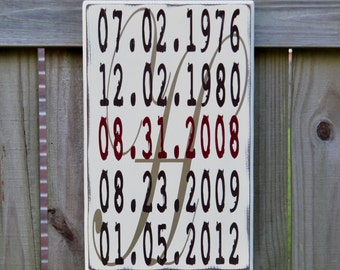 5th Anniversary Gift - Family Date Sign - Date Sign - What a Difference a Day Makes - Family Timeline - Important Date Sign - Our Love Story