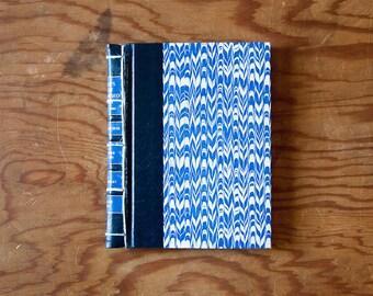 blue hand made journal // hard bound journal