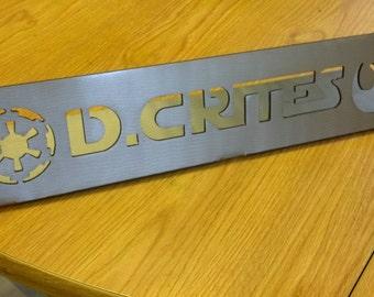 Star Wars Desk Name Plate, Steel
