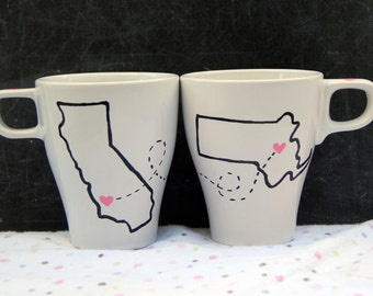 Long distance friendship mugs