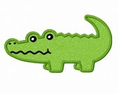Instant Download Alligator Applique Machine Embroidery Design NO:1391