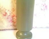 McCoy Vase Olive Green Chartreuse Pedestal Style Floraline